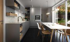 SMART, La douceur de gris et le contraste de bois offrent une chaleur toute nordique - Bien Chez Vous