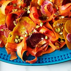 Smaller beets are ideal for this since the rounds will fit neatly on the end of a fork.
