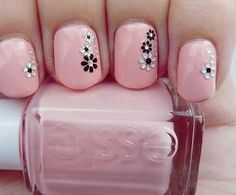 pink with black and white decal flowers