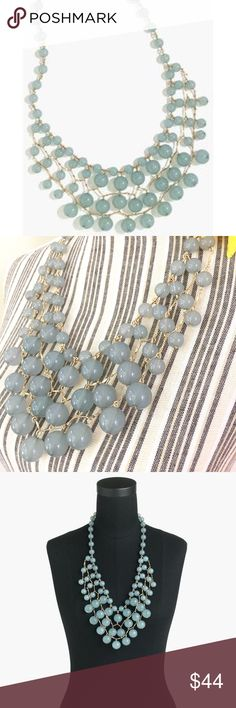 """J. Crew Bauble Cascade Necklace This is the ultimate statement necklace! An updated version of a classic J. Crew favorite in mint ice. 26"""" length with an extender chain for adjustable length. Perfect to wear for your next presentation. J. Crew Jewelry Necklaces"""