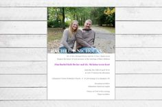 Simple Picture Wedding Invitation by Writefully Simple