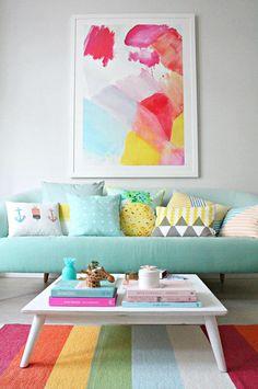 Cercle chromatique, nuances et idées de décoration colorée de la maison