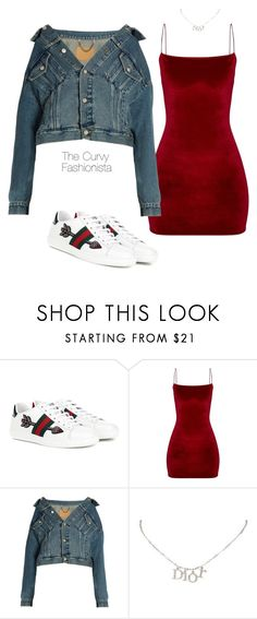 """""""Untitled #1142""""❤ liked on Polyvore featuring Gucci, Balenciaga and Christian Dior"""
