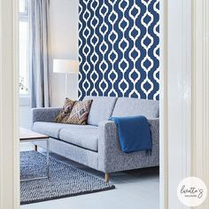 Modern removable wallpaper and traditional wallpaper designs. Visit our website to find the perfect temporary wallpaper for your next interior project! Moroccan Wallpaper, Modern Wallpaper, Print Wallpaper, Fabric Wallpaper, Wallpaper Designs, Moroccan Print, Moroccan Design, Design Marocain, Herringbone Wallpaper