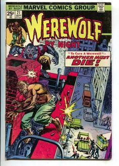 Werewolf By Night 21 Marvel 1974 FN Gil Kane Doug Moench Police Car