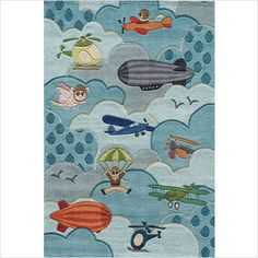 Fun rug for a little boy's room