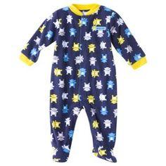 JUST ONE YOU® Made by Carters Newborn Boys' Microfleece Sleep N' Play - Navy/Yellow