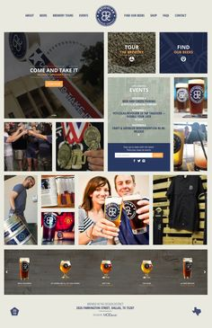 Website design for Dallas based craft brewery, Peticolas Brewing Company. Click to view full case study.