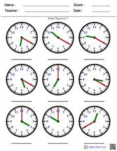 Telling Time on a Clock - A huge variety of worksheets that you can generate based on what you're teaching. Time Worksheets Grade 3, Maths Worksheets Ks2, Clock Worksheets, Free Printable Math Worksheets, Free Printables, Teaching Clock, Teaching Time, Teaching Art, Learn To Tell Time