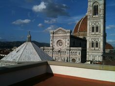 the terrace on the roof. 360° Florence around.