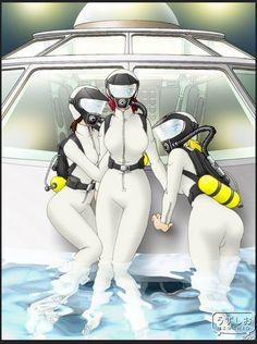 Tight Suit, Skin Tight, Scuba Wetsuit, Fantastic Voyage, Scuba Girl, Latex Catsuit, Scuba Diving, Underwater, Bodysuit