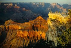 Hikers look out over Mather Point, Grand Canyon. #FindYourPark