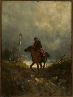 Maksymilian Gierymski Powstaniec z 1863 roku ( W drodze, Posłaniec, Jeździec,) ok. Pictures At An Exhibition, Digital Museum, Horse Drawings, Classic Image, Art Studies, Horse Art, Native American Art, Beautiful Paintings, Lovers Art