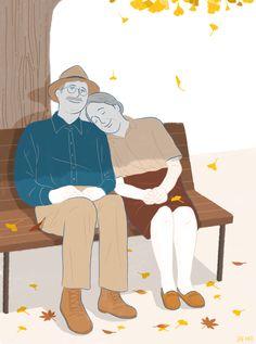 fall illust / illustration illustrator by jeahee