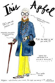 iris apfel, as illustrated by joana avillez