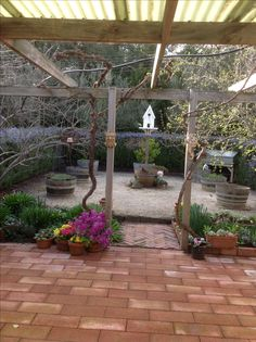 Herb garden in early Spring.