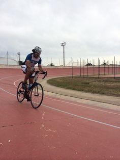 Charvis on velodrome in Sineu