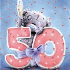 Me To You Tatty Teddy 50th Birthday Celebration Card