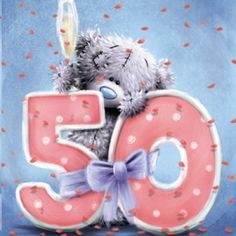 Me To You Tatty Teddy 50th Birthday Celebration Card