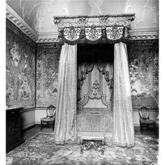 State Bedroom, Normanton Hall, Rutland, Destroyed 1925