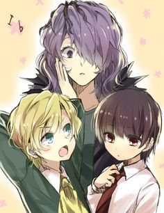 Genderbent Garry, Mary and Ib////////////////////////////////////////  Oh, I want to do male Mary cosplay, ugh. ;-;