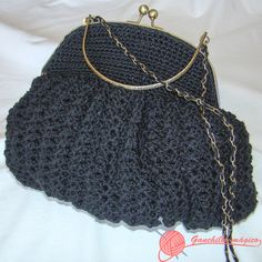 bolso de fiesta Black Bag http://ganchillomagico.com/bolsos-fiesta-coleccion-golden-black/