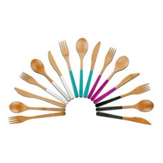 Bamboo Eco-Chic Cutlery for Summer | Core Bamboo | AHAlife | Untensils | Silverware | Kitchen | Eating | Cooking | Dining | Dining Room | Color | Wood | Sustainable