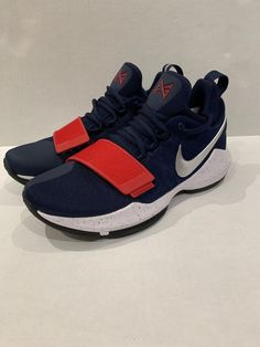 Nike PG 1 Paul George USA Olympics Blue Red White Shoes Size 7 878627-900  NEW  fashion  clothing  shoes  accessories  mensshoes  athleticshoes (ebay  link) b1607d136