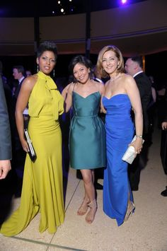 Tamron Hall...Alex Wagner...Chris Jansing; all looking snazzy.
