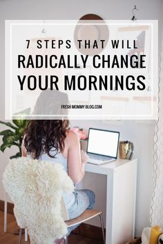7 Steps That Will Radically Change Your Mornings A powerful morning routine can be the catalyst for a productive day! Try these 7 Steps that Will Radically Change Your Mornings that I've put into a routine to lead to a more productive and happy morning! Healthy Morning Routine, Morning Habits, Morning Routines, Daily Routines, Healthy Routines, Cleaning Routines, Miracle Morning, Morning Ritual, Evening Routine