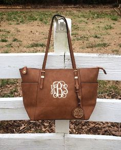 Monogram Purse, Brown Pocketbook, Brown Leather Monogram Tote Purse, Brown Pocketbook , Designer Inspired Handbag,