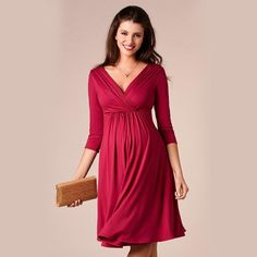 c4ecec78f98 Short Maternity Robe. Happy Easter Tencel V-Neck Knee-Length Dress for Pregnant  Women Elegant Maternity Dresses Pregnancy Clothes Office Vestidos ...
