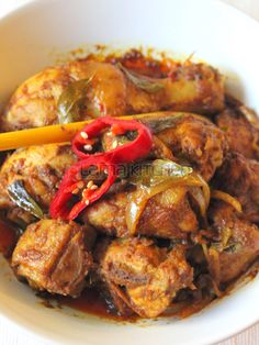 Malaysian Rendang Ayam (Chicken Rendang) | Lama Kitchen - Drive Your Passion for Food | A Food & Cooking Blog