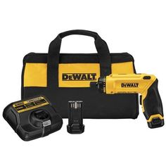 Price:       (adsbygoogle = window.adsbygoogle || []).push();  DEWALT(R) continues its tradition of quality professional tools with this 8V screwdriver kit. The motion activation makes it easier to drive screws comfortably – just turn your wrist to engage the drive. The adjustable...