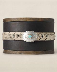 Embroidered Leather Belt - RRL Belts - RalphLauren.com