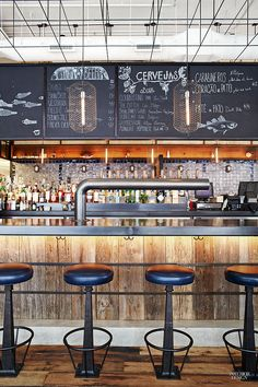 12 NYC Restaurants Serve Up Hot Design | Project: Lupulo. Firm: Creme. Site: Garment District.