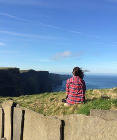 Wow! The Cliffs of Moher was truly an incredible site. Although we technically weren't allowed to climb the wall and sit on the patches of grass... We just had too. You just gotta break the rules to capture some picturesque moments!