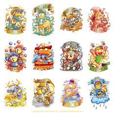 12 cute zodiac characters by anggatantama.deviantart.com on @DeviantArt