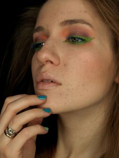 REDMYLIPS fake freckles green orange cooper blue make-up www.red-mylips.blogspot.com