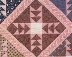 Frienship Quilt detail, 1850. Made by members of North Falmouth Congregational Church. Massachusetts Quilts, Our Common Wealth.