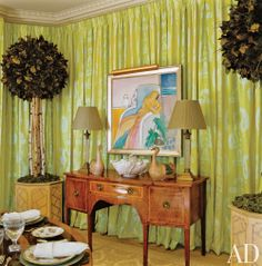 Traditional Dining Room by Mario Buatta in New York, New York