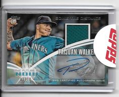 2014 Topps The Future is Now Autograph Relics #FNARTW1 Taijuan Walker 1/10 #SeattleMariners
