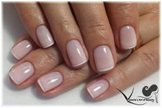Gel nails. French manicure. Gentle. Natural nails