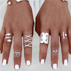 Boho Ring Set