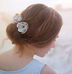 Beach wedding hair https://www.etsy.com/listing/200413441/2-oyster-shell-magnolia-blossom-hair?ref=pr_shop