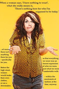 Caitlin Moran on female fashion, this is why I love her.