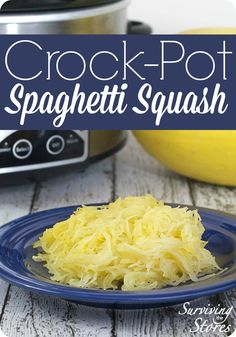 How to make perfect spaghetti squash in the crock pot every time!  My spaghetti squash always turns out perfect and this is so good in place of spaghetti noodles for pasta!