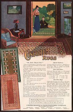 1915 Congoleum Rug Advertisement by American Vintage Home, via Flickr