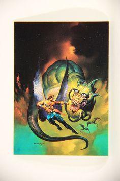 L011008 Boris Vallejo 1992 Card / Wings Of Wor - 1976 - Card #11 / ARTWORK