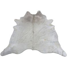 Champagne White Cowhide Rug Size 9 X 8 Ft Huge White Cow Hide Skin Rug... ($429) ❤ liked on Polyvore featuring home, rugs, floor & rugs, home & living, silver, cowhide leather rug, cowhide rug, cow leather rug, cowhide area rug and patchwork area rug